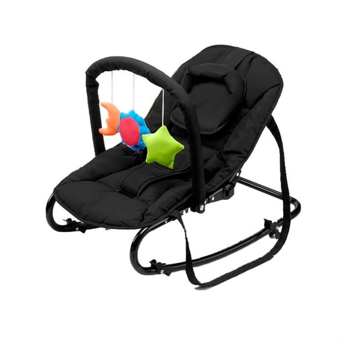 BabyTrold skråstol med legetøj sort
