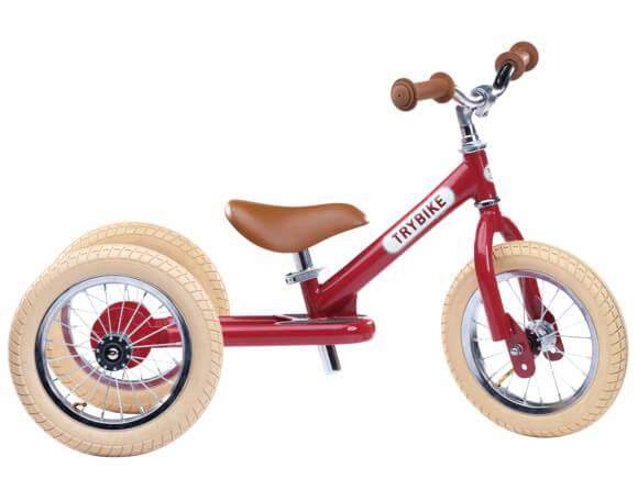 Trybike vintage rød 3-hjulet løbecykel