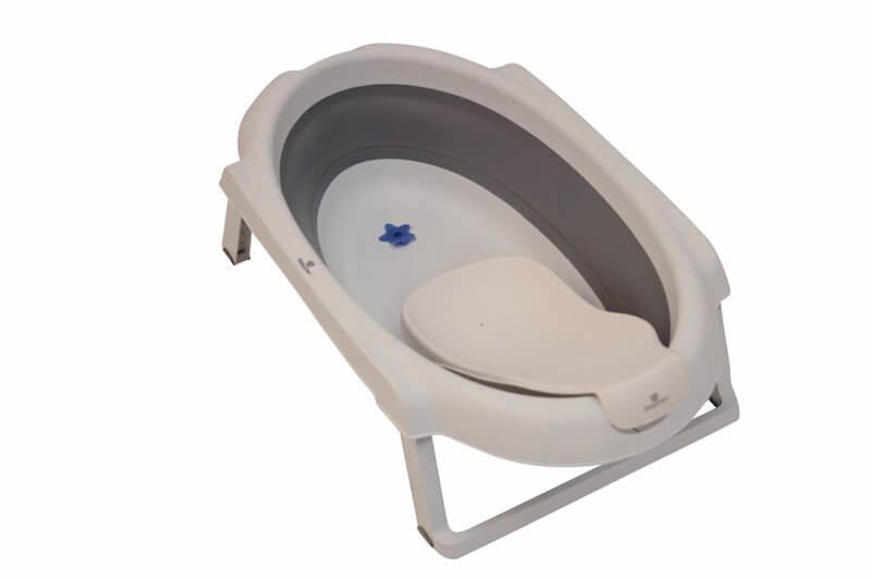 Baby Dan Badesæt m. 30 L Foldbart Badekar og Badestøtte