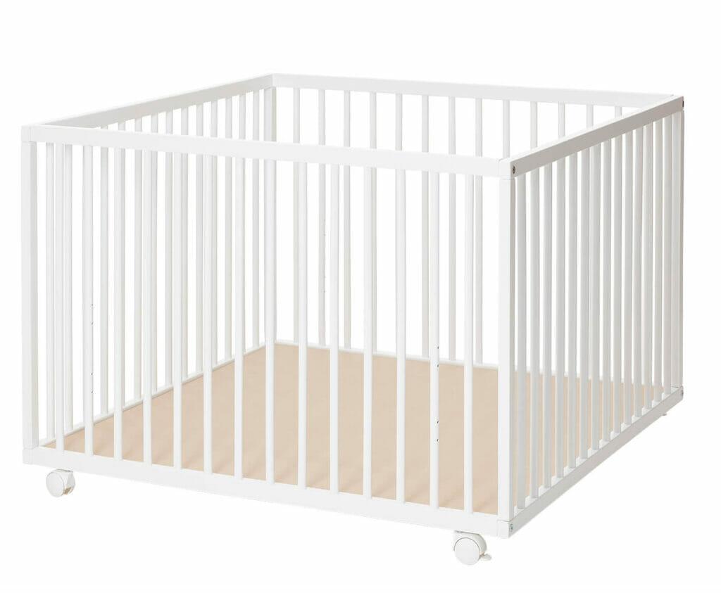 Baby Dan Comfort Stor Kravlegård 99x99x73 cm Hvid