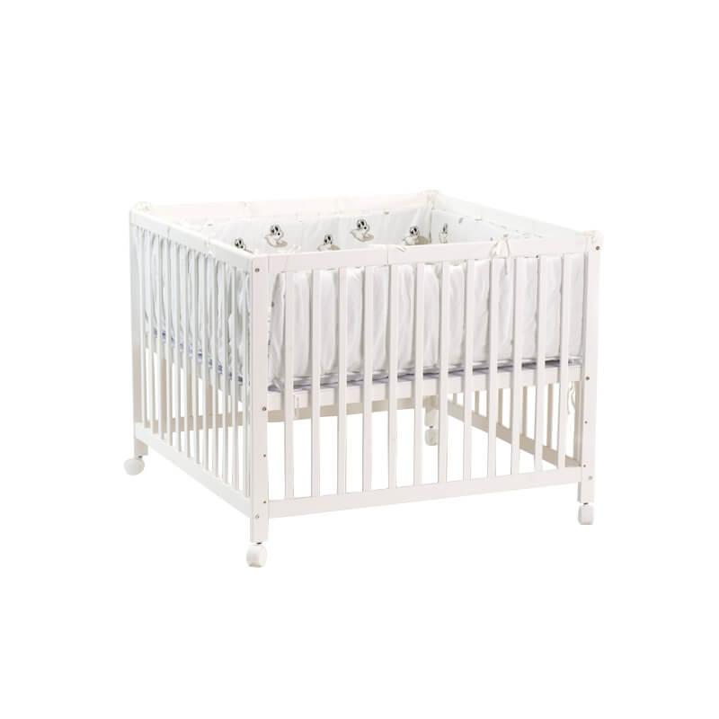 Babytrold Kravlegård 80 x 80 cm - White