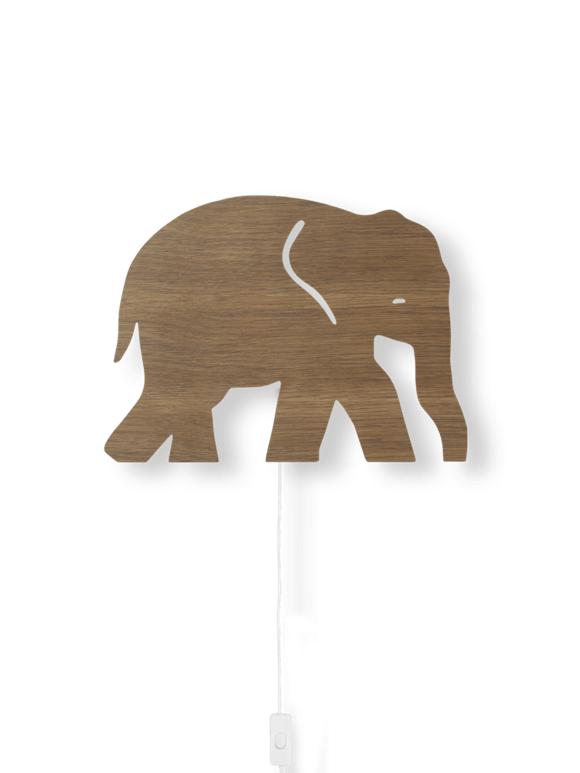 Ferm Living Elefant Lampe Røget Eg