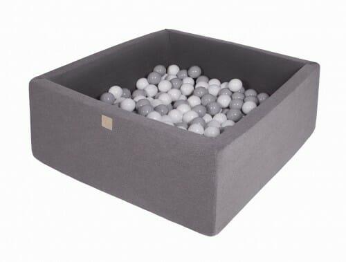 MeowBaby boldbassin 110×110×40 mørkegrå med 400 bolde