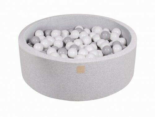 MeowBaby Boldbassin 90×30 Lysegrå med 200 bolde