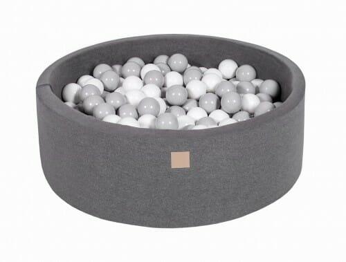 MeowBaby Boldbassin 90×30 Mørkegrå med 200 bolde