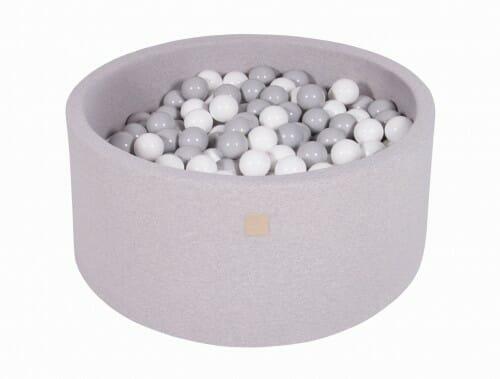 MeowBaby boldbassin 90×40 lysegrå med 200 bolde