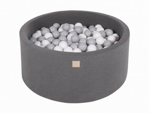 MeowBaby Boldbassin 90×40 Mørkegrå med 200 bolde