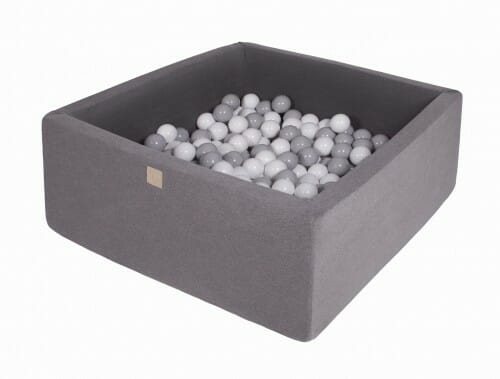 MeowBaby boldbassin 90×90×40 Mørkegrå med 200 bolde