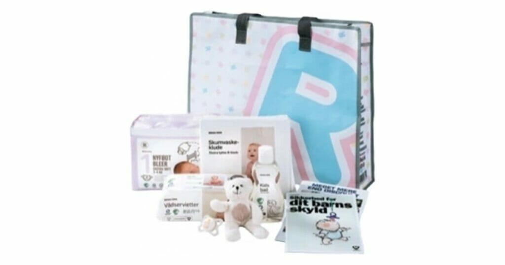 Rema 1000 gratis babypakke