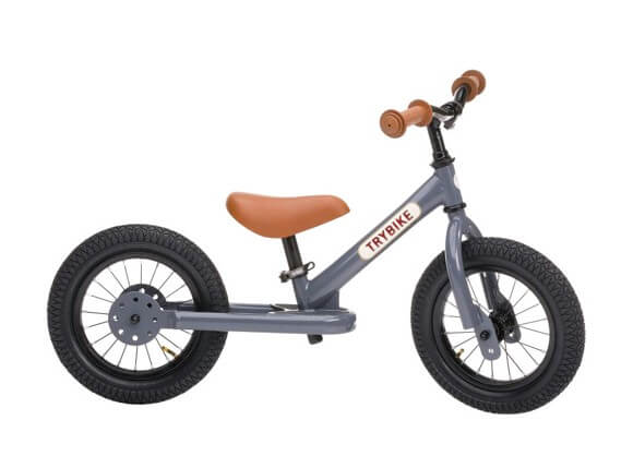Trybike vintage grå 2-hjulet løbecykel