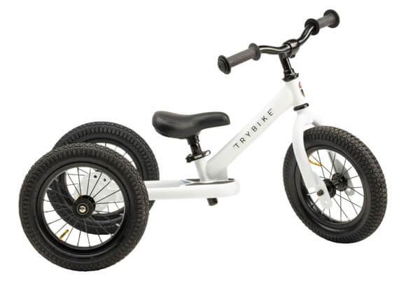 Trybike hvid 3-hjulet løbecykel