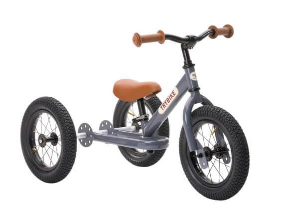Trybike vintage grå 3-hjulet løbecykel