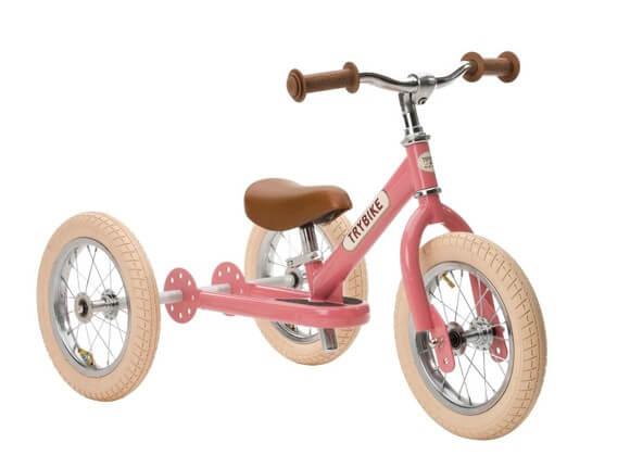 Trybike vintage rosa 3-hjulet løbecykel