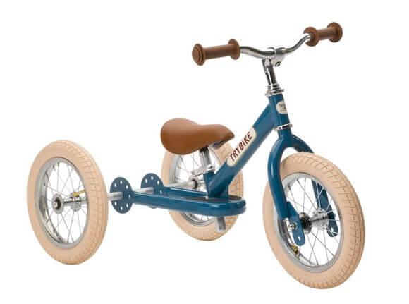 Trybike vintage blå 3-hjulet løbecykel