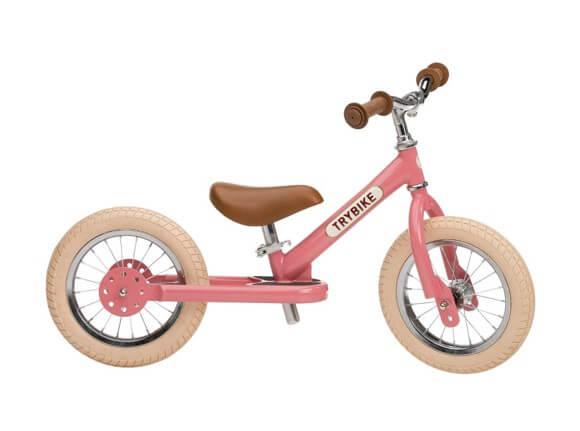 Trybike vintage rosa 2-hjulet løbecykel