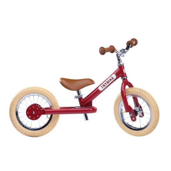 Trybike vintage rød 2-hjulet løbecykel